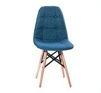כיסא לפינת אוכל מעוצב בריפוד בד במגוון צבעים לבחירה