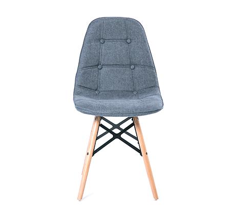 כיסא לפינת אוכל מעוצב בריפוד בד במגוון צבעים לבחירה - תמונה 2