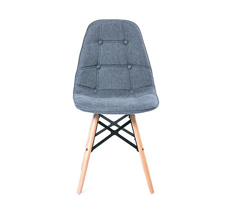 כיסא לפינת אוכל מעוצב בריפוד בד במגוון צבעים לבחירה - תמונה 7
