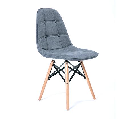 כסא מרופד בד לפינת אוכל