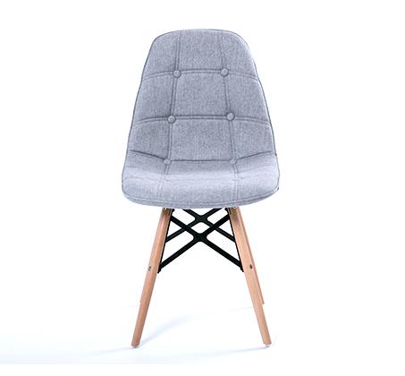 כיסא לפינת אוכל מעוצב בריפוד בד במגוון צבעים לבחירה - תמונה 6