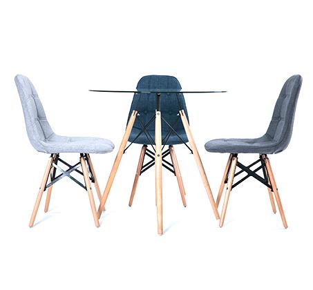 כיסא לפינת אוכל מעוצב בריפוד בד במגוון צבעים לבחירה - תמונה 4