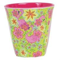 כוס מלמין 2 גוונים הדפס פלמינגו - Rice