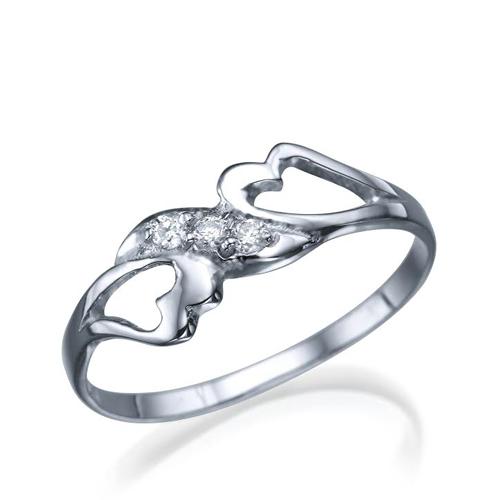 טבעת יהלום מעוצבת 0.06 קראט