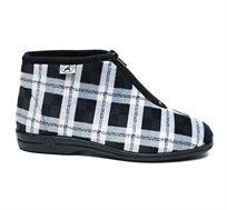 """נעלי בית דפנה לנוער """"קיפי"""" דגם נועם דיגיטל בצבע שחור ולבן"""