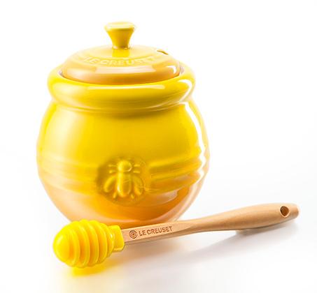 כלי לאחסון והגשת דבש מקרמיקה