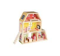 בית בובות קטן Bgifts מכיל 15 חלקים עשוי עץ