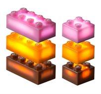 24 קוביות נוספות למשחק צבעוני LIGHT STAX, תואם גודל קוביות LEGO - משלוח חינם!