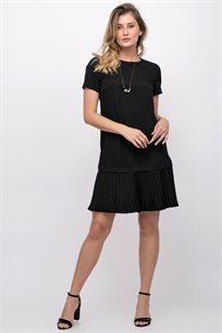 שמלה שחורה בשילוב פליסה
