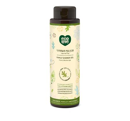 """סבון גוף משפחתי מכיל תמציות אורגניות מירקות ירוקים לכל סוגי העור 500 מ""""ל"""