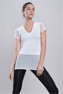 חולצת ספורט Glam בצבע לבן