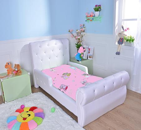 מיטת מעבר לילדים בשילוב כפתורים דמוי קריסטל דגם נסיכה בצבע לבן - קוקולה - תמונה 5