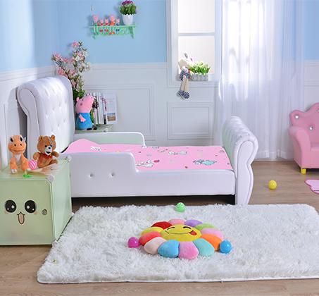 מיטת מעבר לילדים בשילוב כפתורים דמוי קריסטל דגם נסיכה בצבע לבן - קוקולה - תמונה 6
