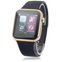שעון חכם בעיצוב יוקרתי עם מד דופק מובנה-גוף מתכת ותאימות מושלמת לIPHONE/ANDROID עברית מלאה