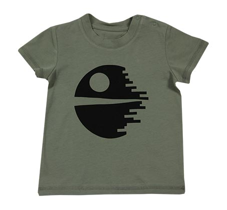 חולצת טי פאקמן לתינוקות - ירוק זית