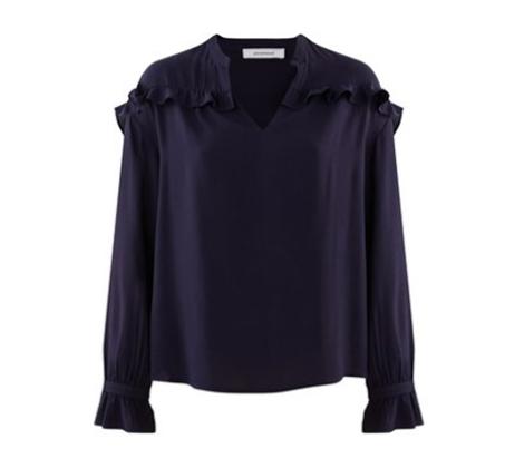 חולצה עם עיטורי מלמלה Promod לנשים - כחול נייבי