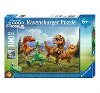 פאזל עם הדמויות הדינוזאורים והילד המכיל 100 חלקים מבית Ravensburger