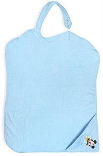 מגבת לתינוק עם קשירה 100% כותנה - מיקי מאוס תכלת