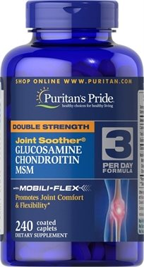 Puritan's Double Strength Glucosamine, Chondroitin & Msm Joint Soother®