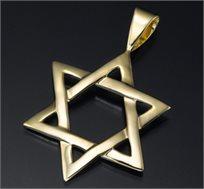 תליון מגן דוד זהב 14K - משלוח חינם!