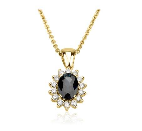 תליון יהלומים דיאנה - זהב צהוב