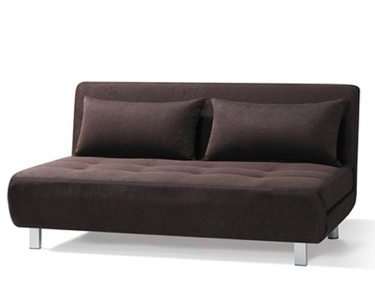 ספה נפתחת למיטה זוגית בעיצוב מודרני, רגלים ובסיס מברזל מבית BRADEX