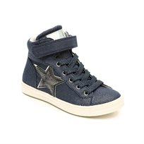 Candy Mid Cut Sneak - נעלי סניקרס בצבע גינס בעיטור כוכב מנצנץ