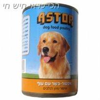 12 אסטור - שימורי מזון לכלבים בשר עם עוף astor