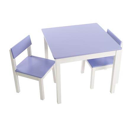 סט שולחן ושני כסאות בשילוב עץ מלא ואיכותי עבור פעוטות וילדים