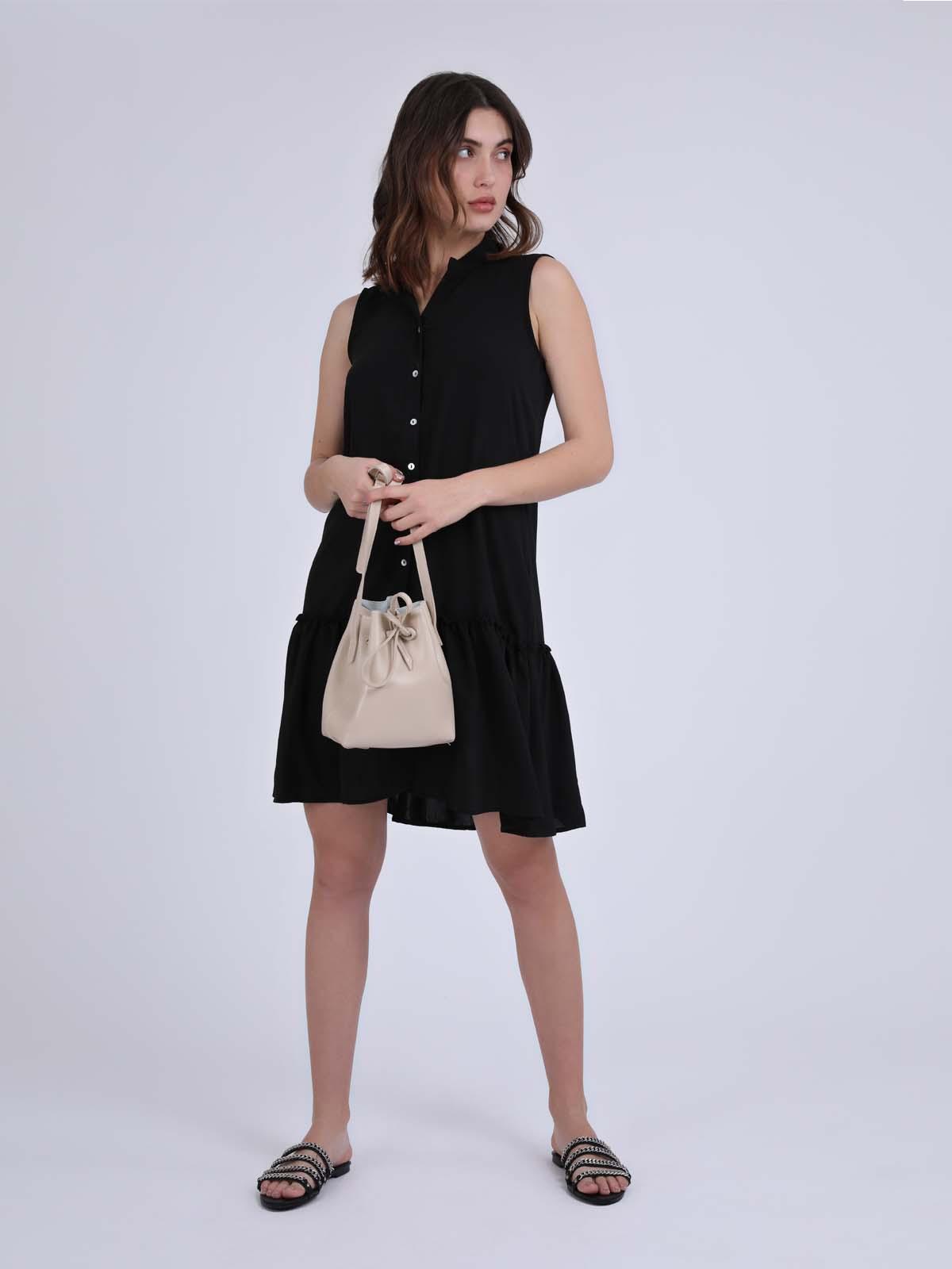 שמלת כפתורים מישל שחור סטייל ריבר