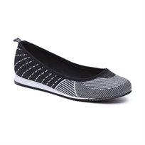 Beira Rio - נעלי בובה שחורלבן לנשים במראה ספורטיבי