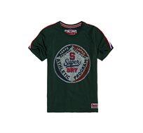 חולצת טי שירט קצרה Superdry Inter State Tee לגברים בצבע ירוק זית