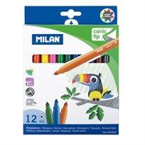 סט 12 טושים צבעוניים Milan