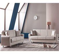 מערכת ישיבה לסלון 3+2 נפתחת למיטה כולל ארגז מצעים וזוג כריות נוי מתנה!