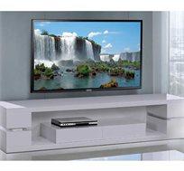 מזנון לסלון בצבע לבן בגימור אפוקסי המעוצב במראה יוקרתי ומודרני דגם לביא LEONARDO - משלוח חינם