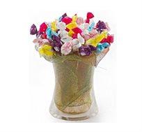 """""""מתוק בפה"""" - זר מתוק ומרהיב המורכב מפרלינים איכותיים השזורים בכלי זכוכית"""