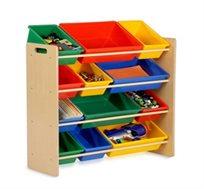 ארגונית לילדים הכוללת 12 קופסאות אחסון honey can do בדגמים לבחירה