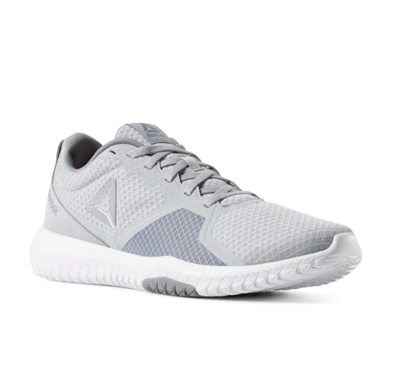 נעלי אימון לגברים Reebok - אפור ולבן