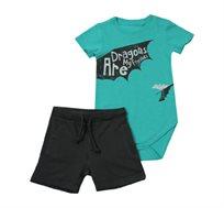 סט בגד גוף ומכנסיים Minene לתינוקות בצבע טורקיז