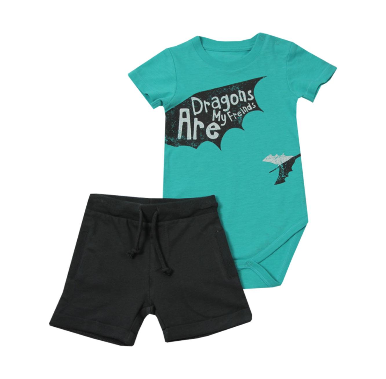 סט בגד גוף ומכנסיים Minene לתינוקות - טורקיז