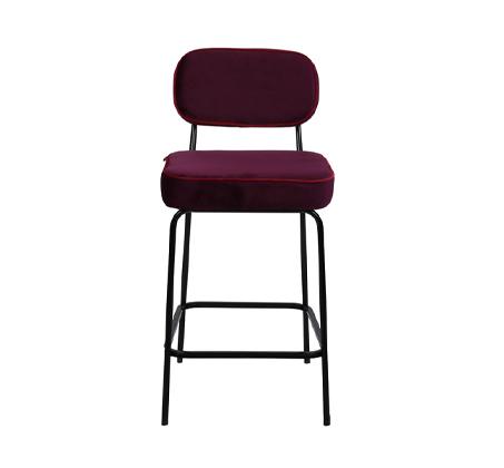כיסא בר בצבע סגול דגם ניקו ביתלי בעיצוב רטרו