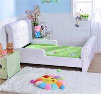 מיטה לילדים דגם נסיכה קריסטל בעלת בסיס עשוי עץ מלא ובשילוב כפתורים דמויי קריסטל