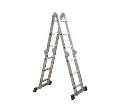 סולם אלומיניום 12 שלבים KRAUSS בעל 3 מפרקי נעילה בטיחותיים