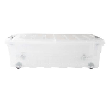 זוג ארגזי אחסון מתחת למיטה 30 ליטר על גלגלים