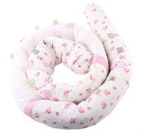 כרית נחש 100% כותנה משמשת לפעילות מוטורית ומגן ראש למיטת התינוק מבית minene