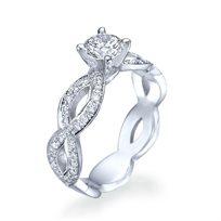 טבעת יהלומים מעוצבת 1.51 קראט D/Vs2