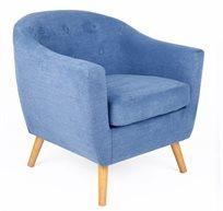 כורסא מעוצבת בריפוד בד מיקרופייבר במגוון צבעים לבחירה - דגם קורל