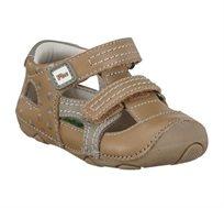 נעלי פעוטות צעד ראשון Papaya דגם סופטי סירות בצבע קאמל