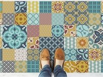 """שטיח ויניל מעוצב גודל 70/120 ס""""מ דגם Tiles"""