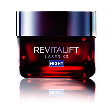 קרם לילה לייזר Revitalift laser night